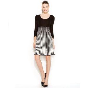 Calvin Klein Striped Ombré Knit Dress